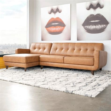 Elva Leather Sectional