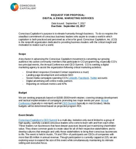 email marketing letter template marketing proposal template cover letter - Email Marketing Cover Letter