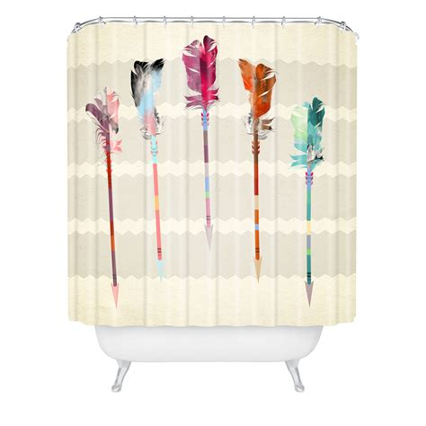 Emmanuel Feathered Arrows Extra Long Shower Curtain