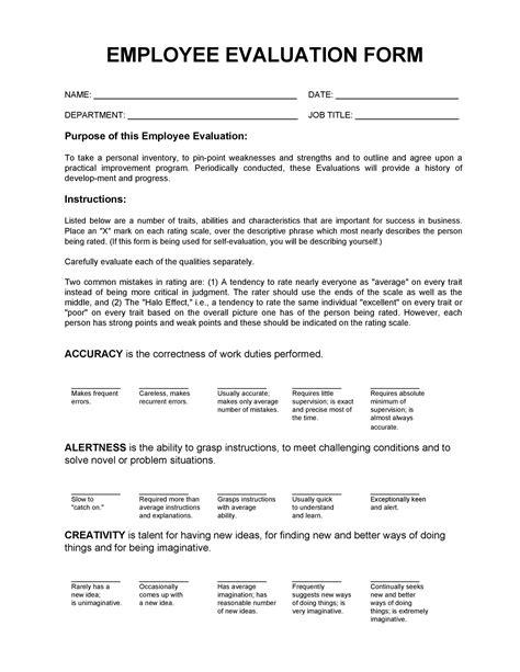 Employee Evaluation Input Form Sample Employee Self Evaluation Form Sample Templates