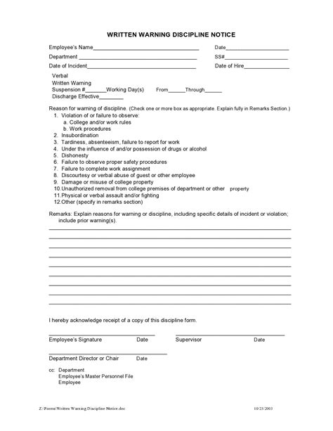 Employee Write Up Tardiness Template 46 Effective Employee Write Up Forms Template Lab