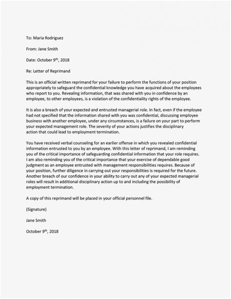 Employee Write Up Tardiness Template Reprimand An Employee For Poor Attendance Or Tardiness
