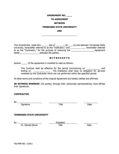 employment contract amendment letter sample online resume black hole