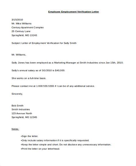 Employment Verification Letter Microsoft Word Employment Verification Letter Sample And Template