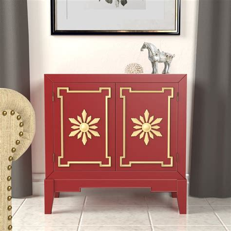 Engal Vintage Style Hallway 2 Doors Accent Cabinet