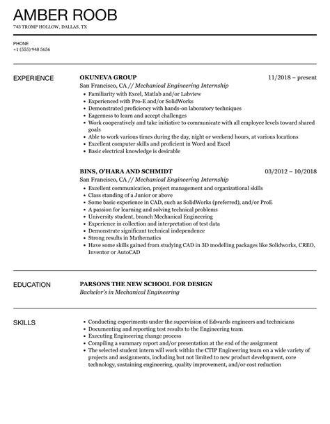 engineering internship resume examples resume objective radio s engineering internship resume no experience resume for internship - Biomedical Service Engineer Sample Resume