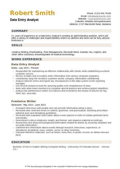 qa analyst resume entry level qa analyst resume sample business