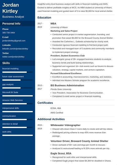 entry level business analyst resume sample resume sample business analyst award winning resume entry level