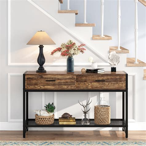Entryway Table With Drawers