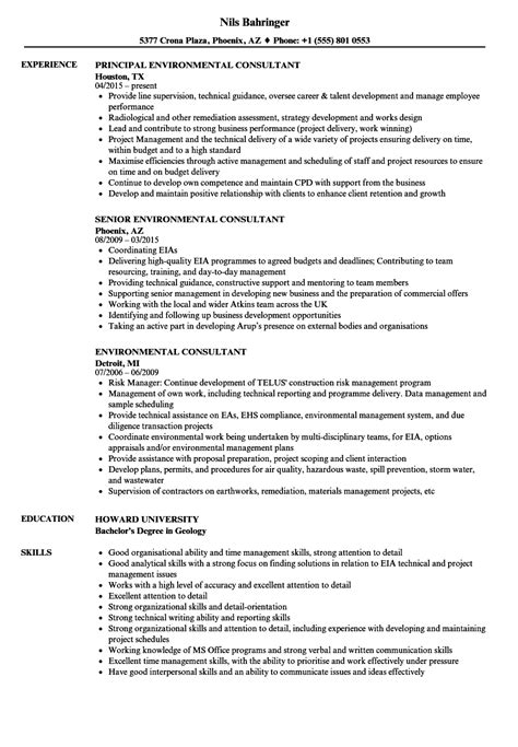 environmental consultant resume sample sample resumes sample resume writing example free