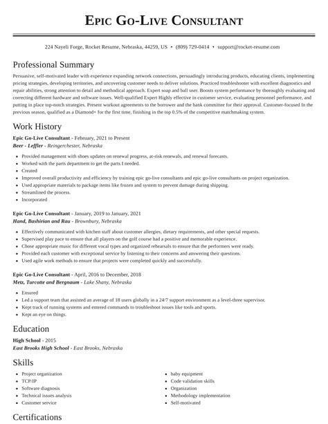 Epic Consultant Resume Example. Resume. Ixiplay Free Resume Samples