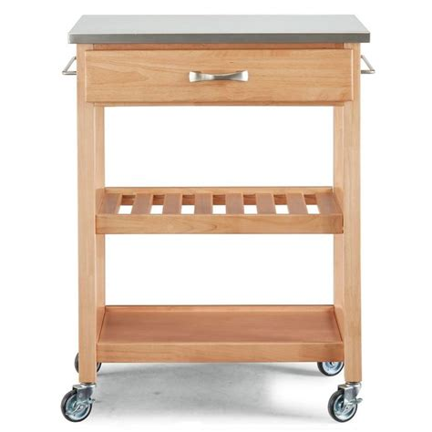 Erving Kitchen Cart Stainless Steel Top
