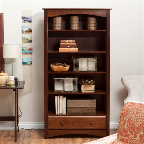 espresso bookcase with drawers