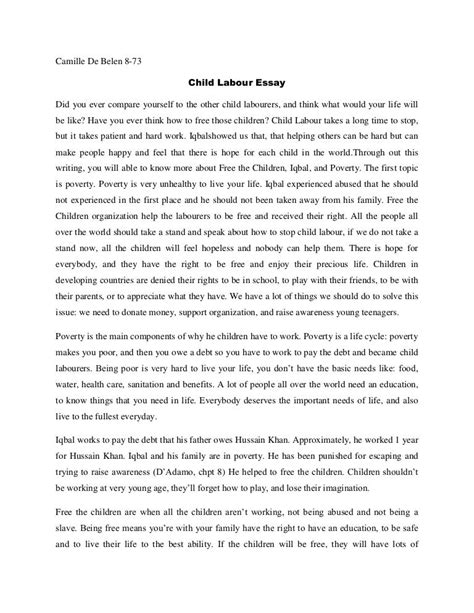 essay on child labour for kids research paper helphopelive essay on child labour for kids child labour in causes laws and how to eliminate