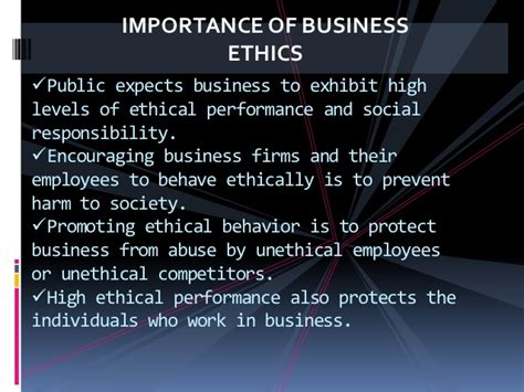 the importance of ethics social Start studying business ethics and corporate social responsibility learn vocabulary, terms, and more with flashcards, games, and other study tools.