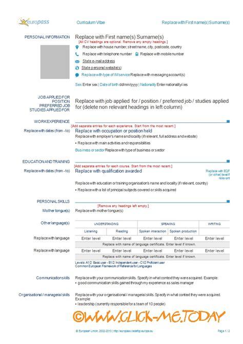 Europass cv template ro resignation letter questions europass cv template ro europass cv template yelopaper Images