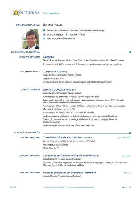 european curriculum vitae format pdf download sample cover