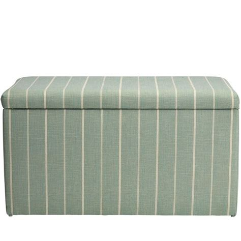 Evalyn Cotton Upholstered Storage Bench