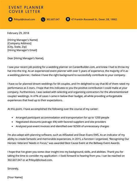 Non profit event coordinator resume