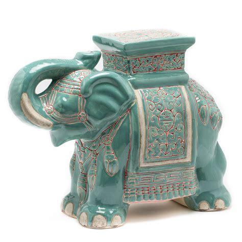 Evonna Elephant Ceramic Garden Stool