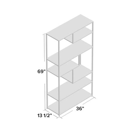 Evonna Industrial Standard Bookcase