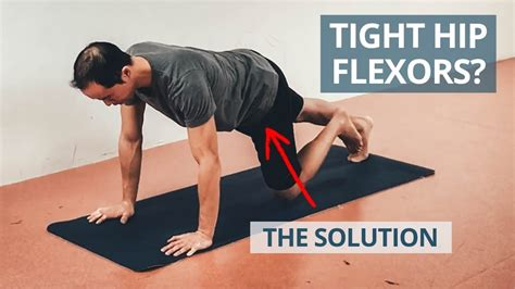exactly where is the hip flexor muscles tightening