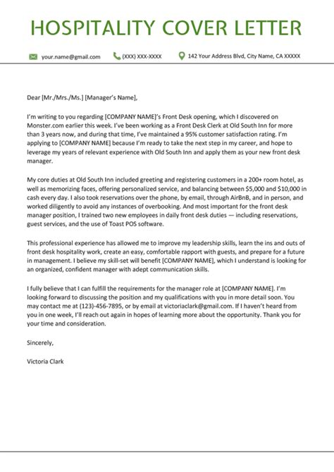 example cover letter hospitality best hotel hospitality cover letter examples livecareer
