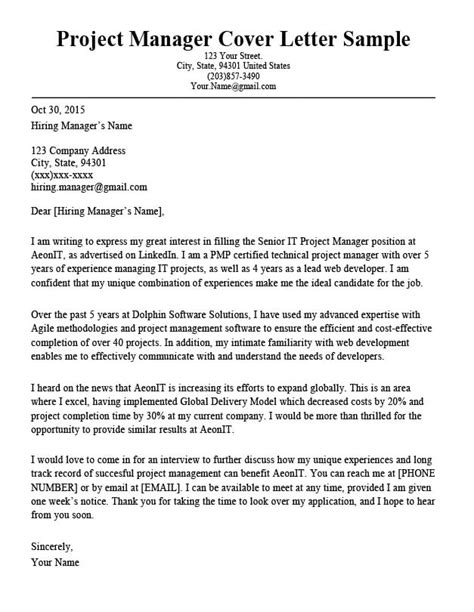 Example Cover Letter Research Management Cover Letter Example Sample