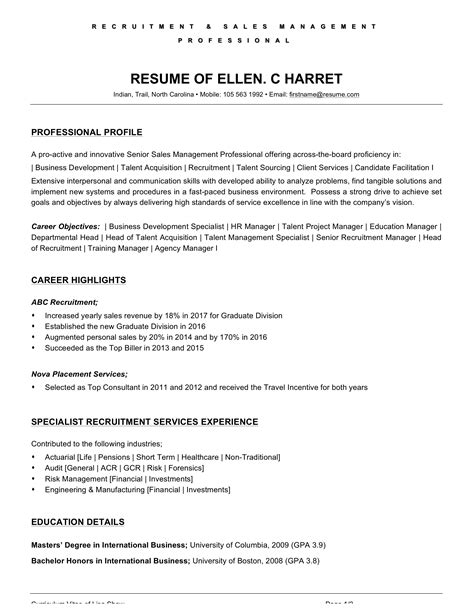 Resume Example Objective Curriculum Vitae Ejemplos Word Para Of A Waiter