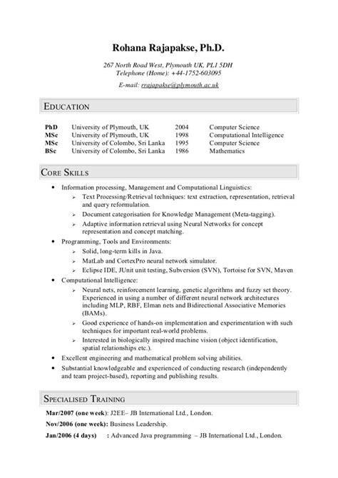 Example Of A Brief Resume Brief Resume Brief Resume Samples Sample Writing