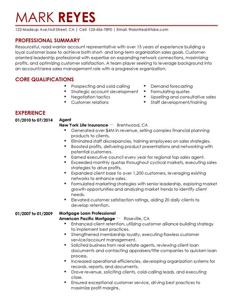 Example Of A Brief Resume Brief Resume Samples Writing