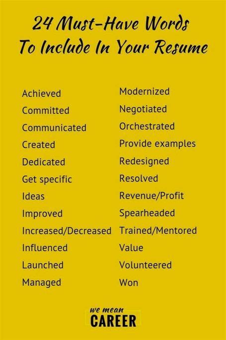 resume keyword examples example of keywords key phrases for your resume