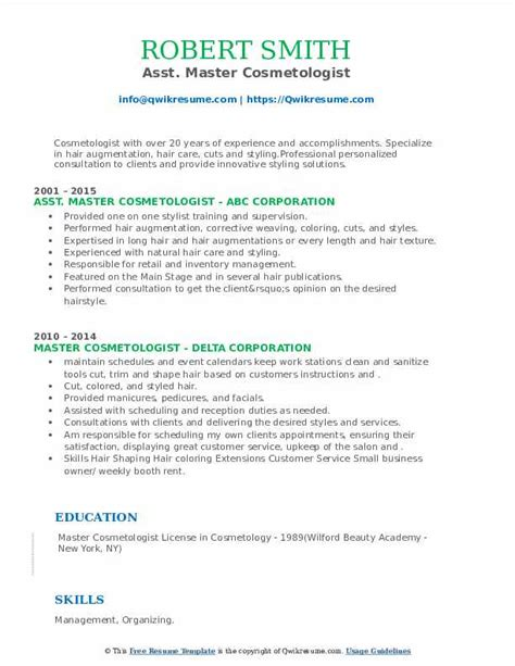 master resume sample view photo gallery