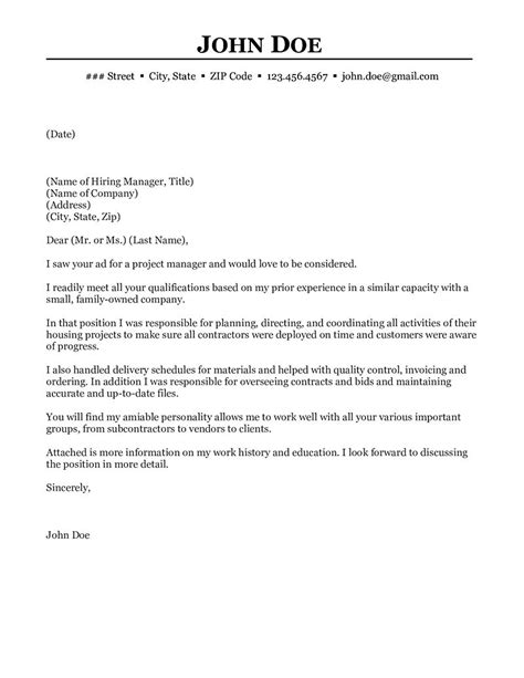 example of cover letter retail manager project manager cover letter example icoverorguk - Program Manager Cover Letter Example