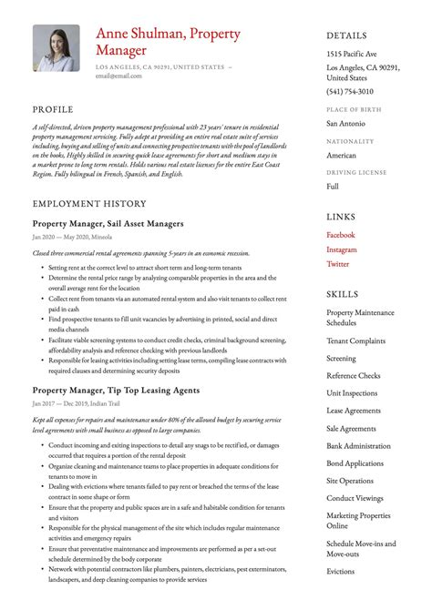 example of a realtor resume property manager resume template premium resume samples realtor resume