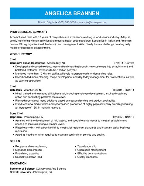 example of chef resume sample resume chef resume it training and consulting