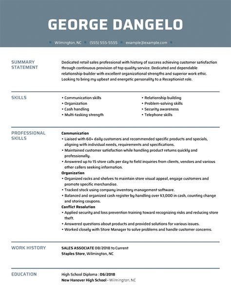 example of a good looking resume sample resumes best sample resume for jobs example resumes