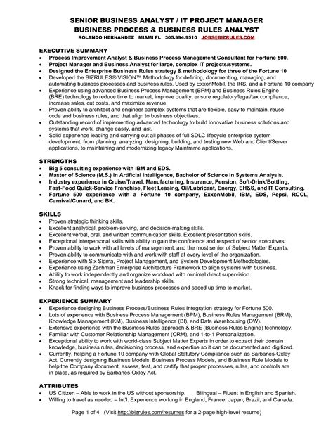 Example Of Senior Business Analyst Resume Senior Business Analyst Resume Samples Jobhero