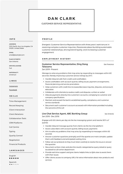 Example Resume Objectives For Management Positions Customer Service Representative Resume Example