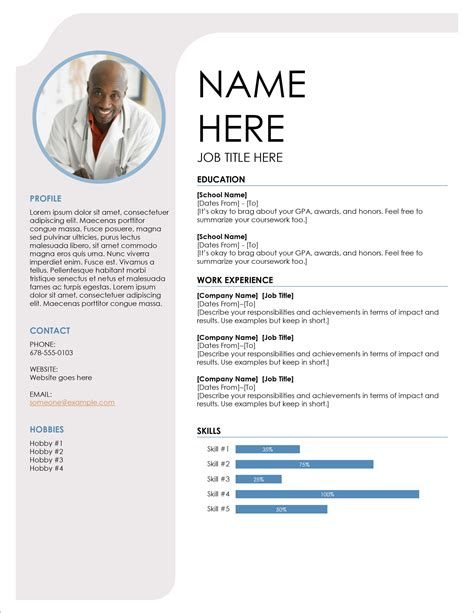 Example Resume Template Word Free Microsoft Resume Templates For Word The Balance