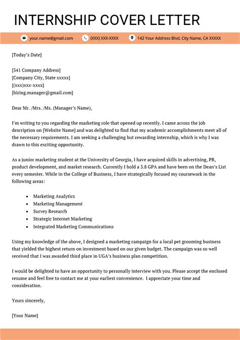 example resume for internship | thank you letter to boss for work ... - Resume For Internship Example