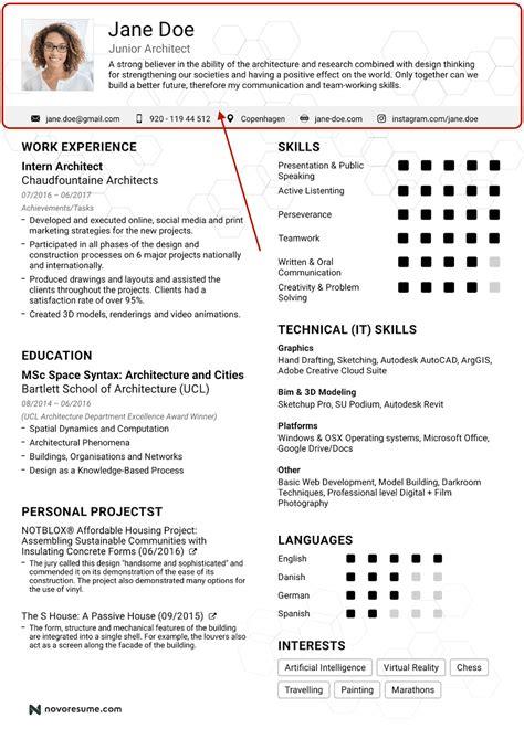 Cover Letter Sample Resume Header Layout
