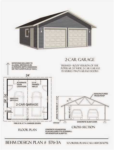 Example Garage Plans
