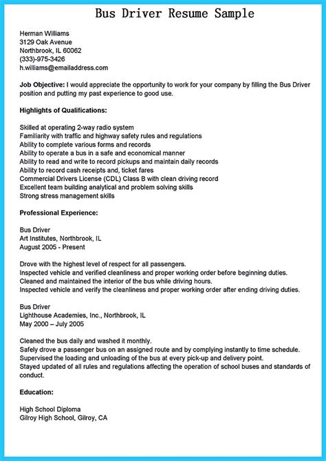 examples of dispatcher resume bus driver job description for resume cover letters and