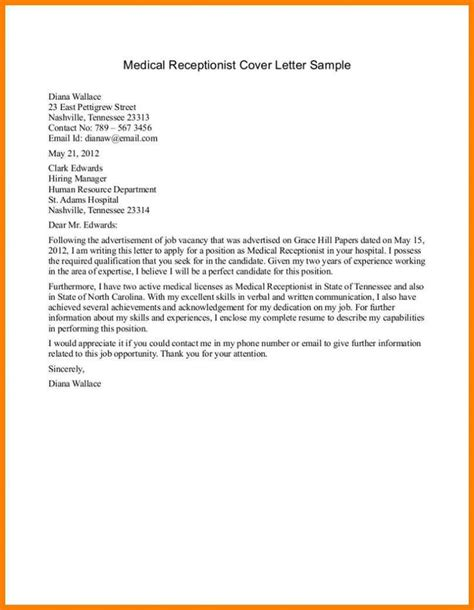 medical receptionist cover letter example icoverorguk cover - Medical Receptionist Cover Letter