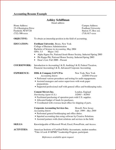 examples of resume objectives for accounting accounting resume objectives o resumebaking