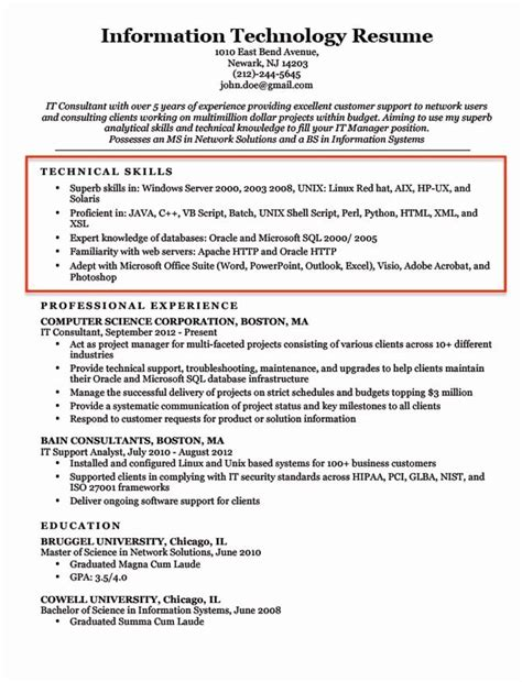Excel Skills For Resume Excel Skills Resume Samples Excel Skills On Resume Sample Resume