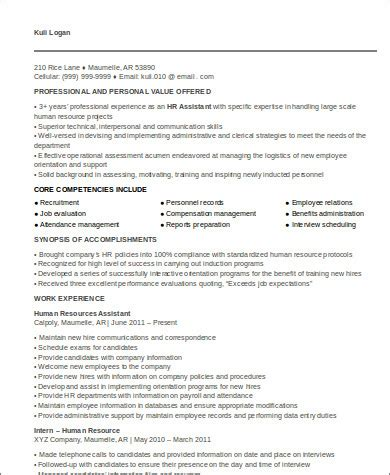 Executive Assistant Resume Format Hr Executive Resume Example