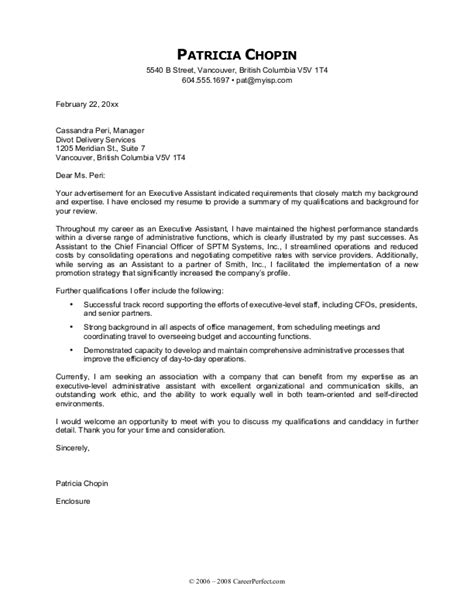 Cover Letter Job Application Executive Assistant | Case Study ...