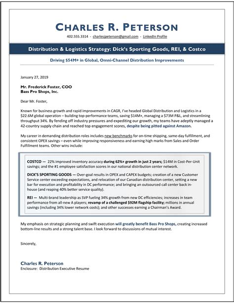 Cover Letter Examples For Director Of Operations   Professional Cv ...